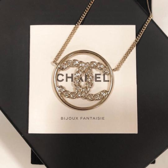 Chanel 2019 CC Logo Rounded Crystals GHW Image 5
