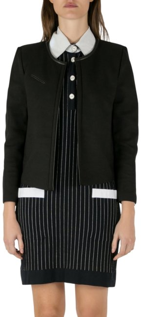 Preload https://img-static.tradesy.com/item/26162138/iro-black-twill-leather-trim-open-front-tim-jacket-size-10-m-0-1-650-650.jpg