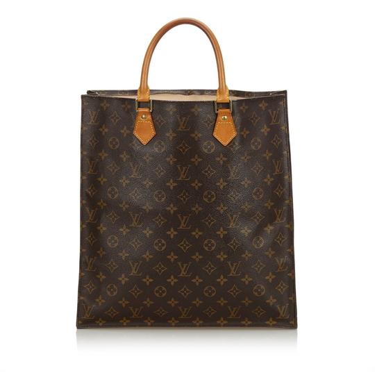 Louis Vuitton 9glvto011 Vintage Leather Tote in Brown Image 1