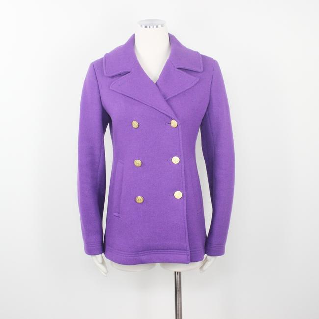 J.Crew Double Breasted Gold Buttons Preppy Pea Coat Image 1