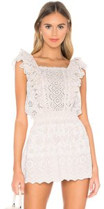 LoveShackFancy short dress Ivory Zara Mini Eyelet Ruffle on Tradesy