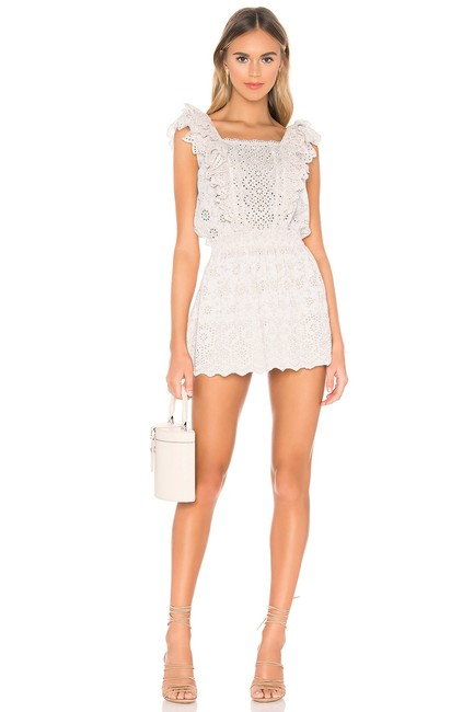 LoveShackFancy short dress Ivory Zara Mini Eyelet Ruffle on Tradesy Image 6