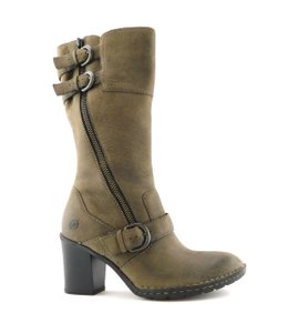 Børn Double Zip Strap Zipper Round Toe Oliver Taupe Grey Boots