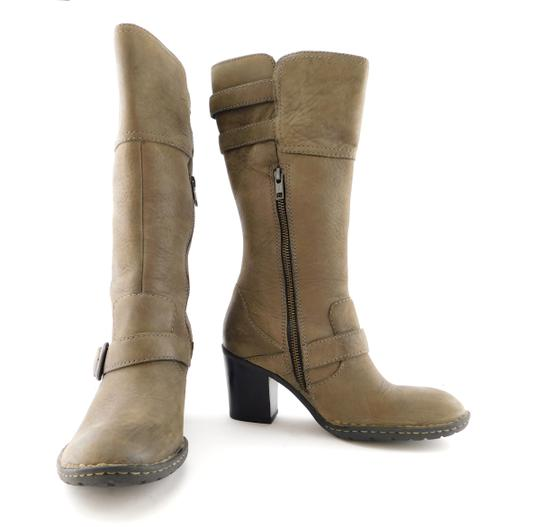 Brn Double Zip Strap Zipper Round Toe Oliver Taupe Grey Boots Image 1