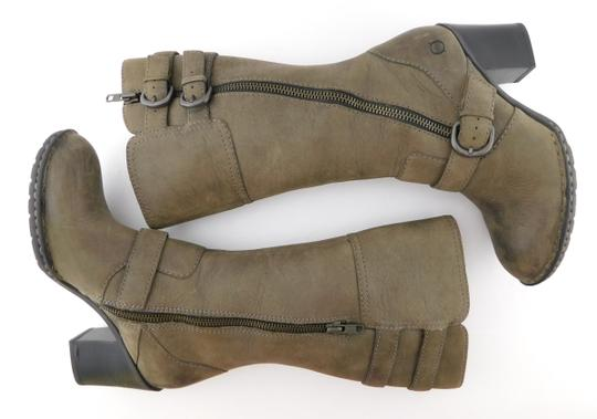 Brn Double Zip Strap Zipper Round Toe Oliver Taupe Grey Boots Image 2