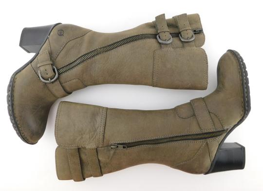 Brn Double Zip Strap Zipper Round Toe Oliver Taupe Grey Boots Image 3