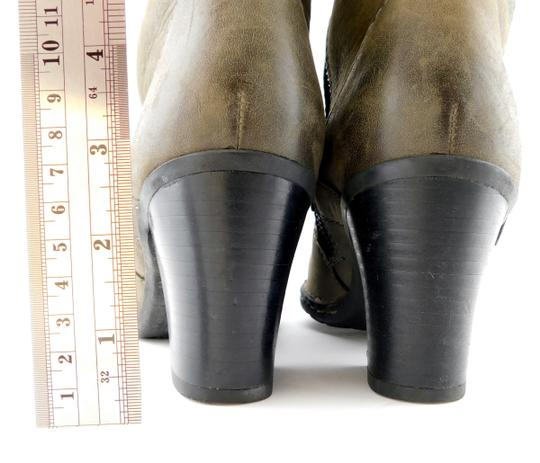 Brn Double Zip Strap Zipper Round Toe Oliver Taupe Grey Boots Image 4