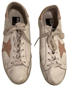 Golden Goose Deluxe Brand white and pink Athletic
