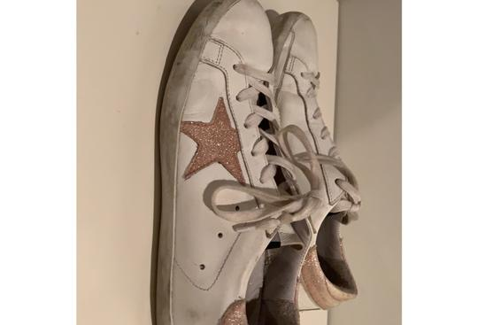Golden Goose Deluxe Brand white and pink Athletic Image 1
