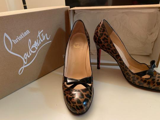 Christian Louboutin Leather Bow leopard Pumps Image 1