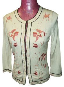 Ann Taylor Embroidered Beaded Sweater