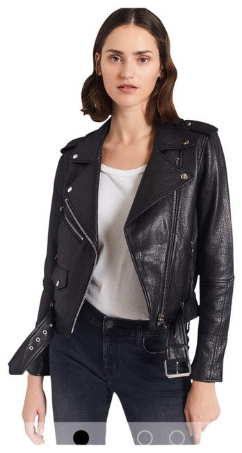 Item - Black Leather Jacket Size 4 (S)