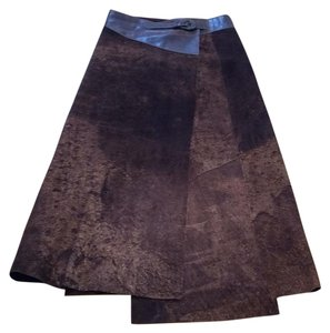 Save The Queen Maxi Skirt brown sueded