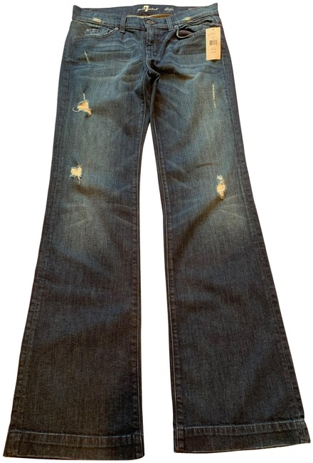 Item - Blue Denim Distressed Dojo Trouser/Wide Leg Jeans Size 30 (6, M)