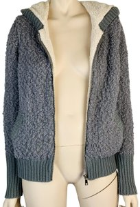 QED London Long Sleeve Zipper Soft Lined Long Sleeve GRAY GREY CREAM Jacket