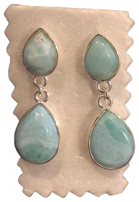 Larimar Stone Earrings Larimar Stone Earrings Image 1
