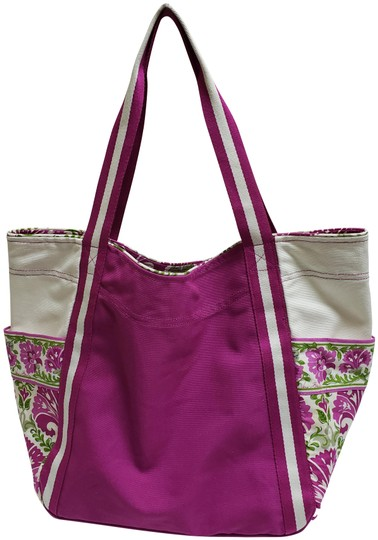 Preload https://img-static.tradesy.com/item/26164854/vera-bradley-fuschia-cotton-tote-0-2-540-540.jpg