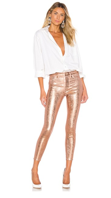 Item - Gold Foil Coated Margot High Rise Skinny Jeans Size 2 (XS, 26)