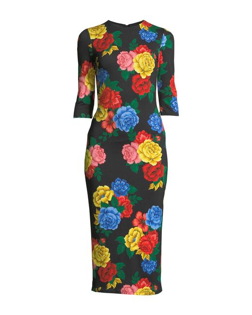 Item - Multicolor Floral Fitted Mid-length Night Out Dress Size 0 (XS)