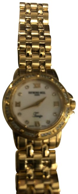 Raymond Weil Gold Tango Ladies 18k Plate & Band Mop Face Swiss Watch Raymond Weil Gold Tango Ladies 18k Plate & Band Mop Face Swiss Watch Image 1