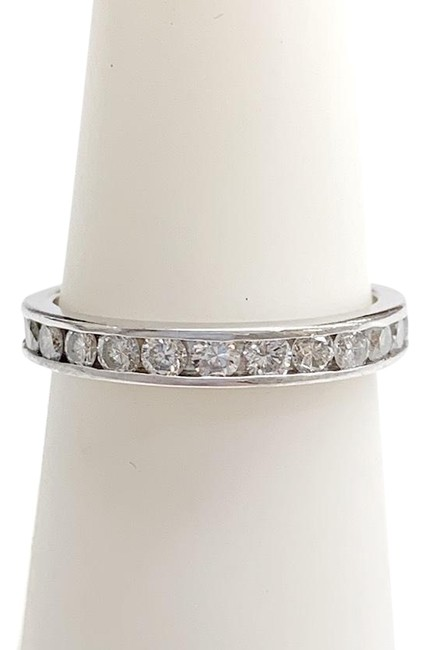 Classic Style Platinum and Diamond Band Ring Classic Style Platinum and Diamond Band Ring Image 1