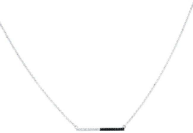 Rachel Koen 14k White Gold Tiny Raw Of Black & Cut Diamond Necklace Rachel Koen 14k White Gold Tiny Raw Of Black & Cut Diamond Necklace Image 1