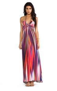Red Purple Pink Multi Maxi Dress by Sky