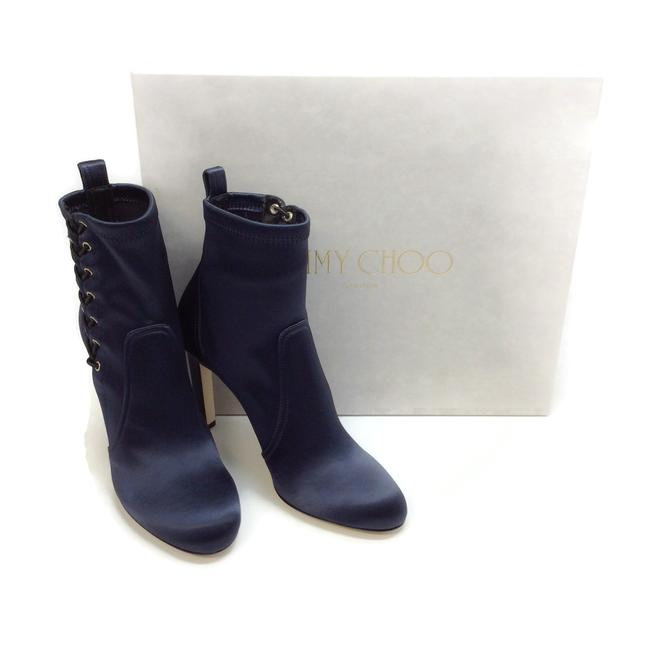 Jimmy Choo Navy Blue Mallory 100 Boots/Booties Size EU 40 (Approx. US 10) Regular (M, B) Jimmy Choo Navy Blue Mallory 100 Boots/Booties Size EU 40 (Approx. US 10) Regular (M, B) Image 9
