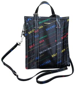 Balenciaga Bal City Arena Shopper Tote in Black Multi