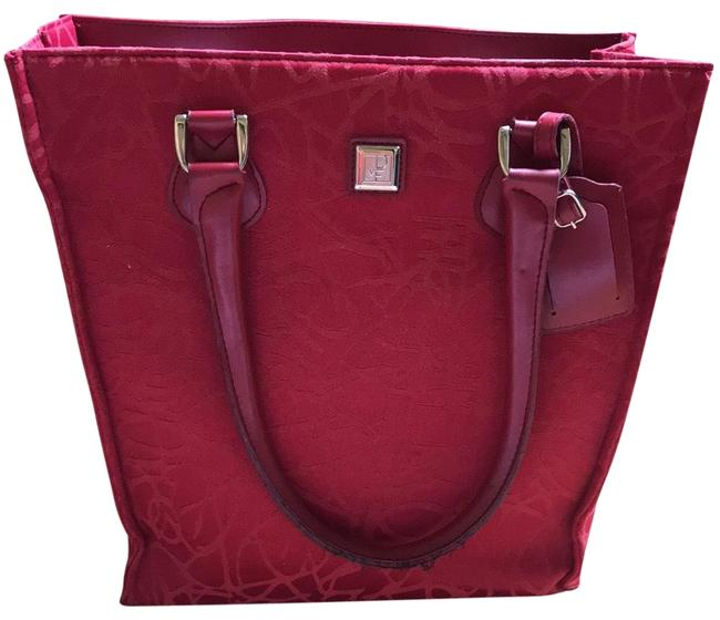 Item - Dvf Travel Or Daily Red Fabric Tote