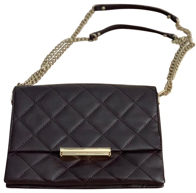 Item - Emerson Place Lenia Quilted Mahogany Leather Shoulder Bag
