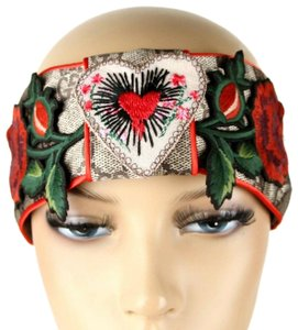 Gucci Headband with Heart and Roses Patches China Exclusive M 462057 9667