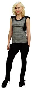 L.A.M.B. Gwen S Gwen Stefani Moto Fitted G Stefani Top Black/Grey