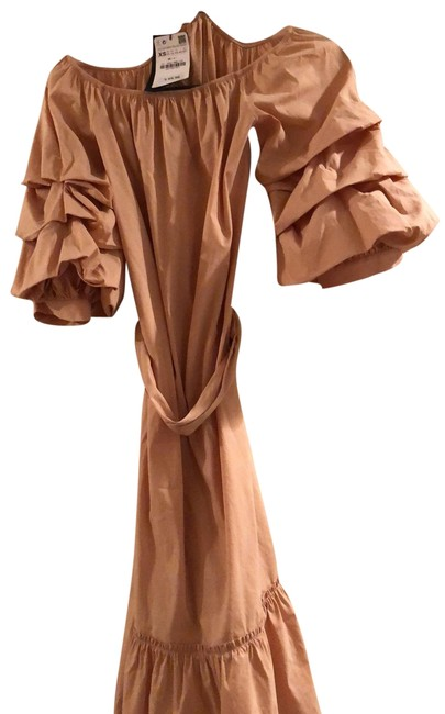 Item - Blush Belted Mid-length Short Casual Dress Size 2 (XS)