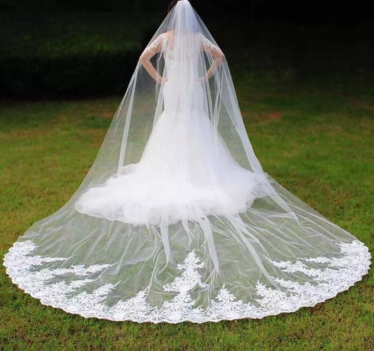 Preload https://img-static.tradesy.com/item/26166759/long-white-or-ivory-high-quality-4m-lace-one-layer-with-comb-bridal-veil-0-2-540-540.jpg
