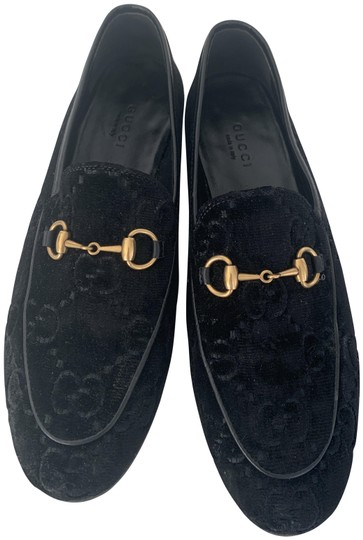 Preload https://img-static.tradesy.com/item/26166949/gucci-black-velvet-jordaan-gg-loafers-flats-size-eu-375-approx-us-75-regular-m-b-0-1-540-540.jpg