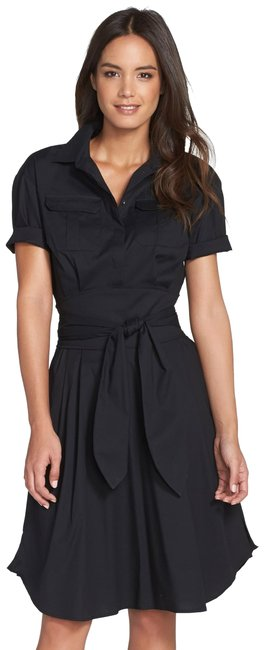 Cynthia Steffe short dress Blue Monochrome Pleated Stretchy Collar Pockets on Tradesy Image 0