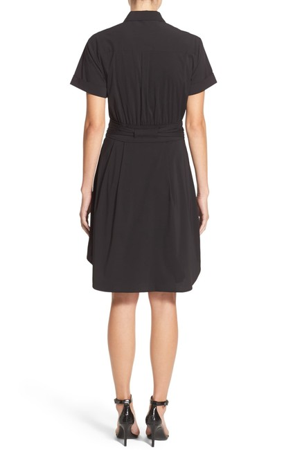 Cynthia Steffe short dress Blue Monochrome Pleated Stretchy Collar Pockets on Tradesy Image 2