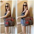 Gucci Gg Crystal Leather Voyager Tote in Red, Blue Image 3