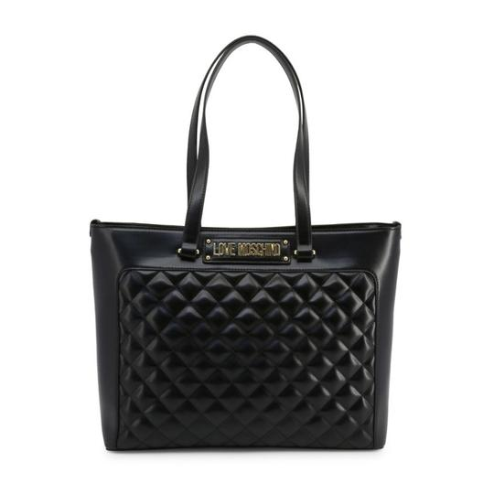 Love Moschino Tote in Black Image 3