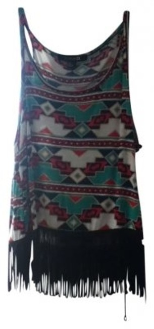 Preload https://item3.tradesy.com/images/forever-21-multi-colored-tribal-with-black-fringe-tank-topcami-size-12-l-26167-0-0.jpg?width=400&height=650