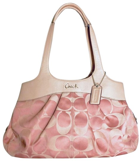 Preload https://img-static.tradesy.com/item/26167011/coach-signature-c-purse-pink-fabric-with-leather-lining-satchel-0-2-540-540.jpg
