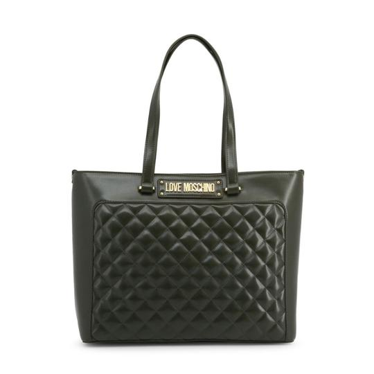 Preload https://img-static.tradesy.com/item/26167018/love-moschino-shopping-bag-green-faux-leather-tote-0-0-540-540.jpg