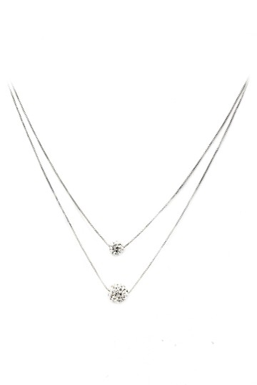 Preload https://img-static.tradesy.com/item/26167045/silver-lady-double-chain-crystal-ball-necklace-0-0-540-540.jpg