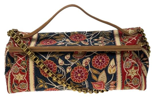 Preload https://img-static.tradesy.com/item/26167047/tory-burch-top-handle-bag-embroidered-floral-frame-multicolor-canvas-and-leather-clutch-0-2-540-540.jpg