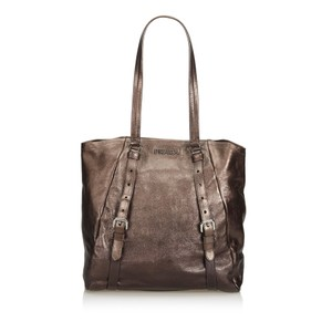 Prada 9eprto007 Vintage Leather Tote in Brown