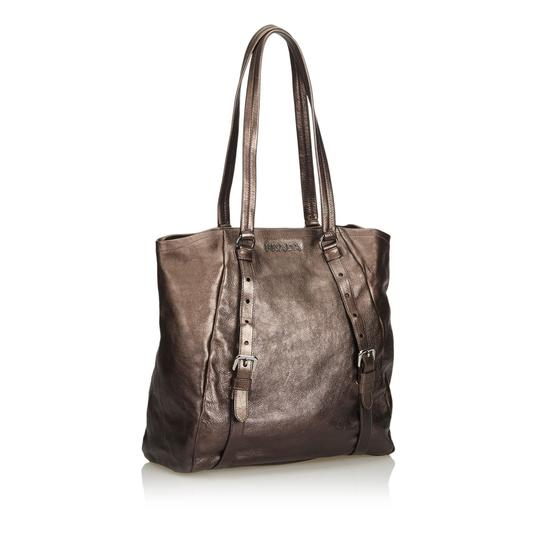 Prada 9eprto007 Vintage Leather Tote in Brown Image 1