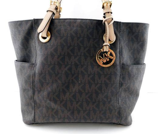 MICHAEL Michael Kors Jet Set West East Canvas Tote in Brown Image 2