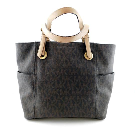 MICHAEL Michael Kors Jet Set West East Canvas Tote in Brown Image 3