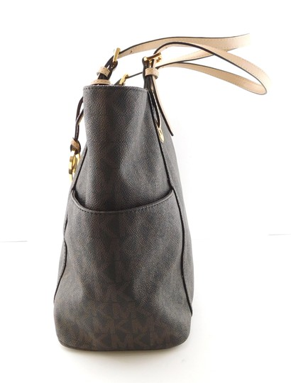 MICHAEL Michael Kors Jet Set West East Canvas Tote in Brown Image 5